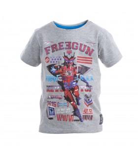 Tee Shirt Garçon Babyz Imprimé Rouge Freegun.