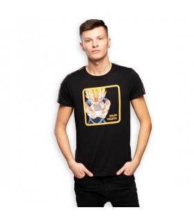 Men's Dragon Ball Z Majin Vegeta Black Tee Shirt