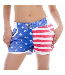 Boardshort Fille Miss Freegun Imprimé Usa