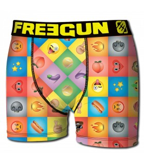 Boxer homme emotik freegun multicolore