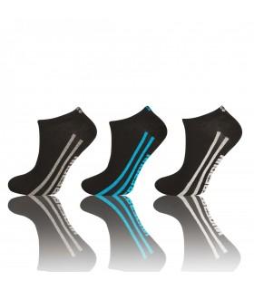 Lot de 3 paires de chaussettes sneakers Freegun Homme Noir
