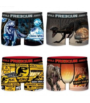 Lot de 4 Boxers homme Jurassic World