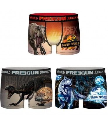 Pack of 3 men's Jurassic World Universal Boxers