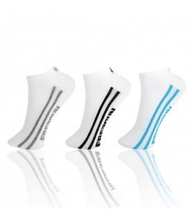 Lot de 3 paires de chaussettes sneakers Freegun Garçon Blanc