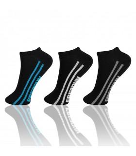 Lot de 3 paires de chaussettes sneakers Freegun Garçon Noir