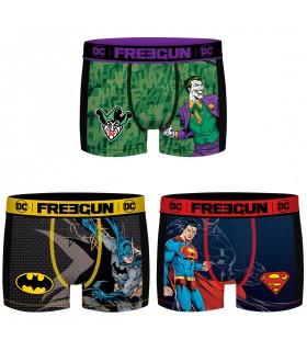 Lot de 3 Boxers Freegun garçon Aktiv DC Comics Mesh 2 cote