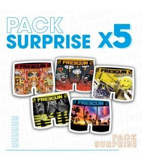 Pack Surprise de 5 Boxers Freegun garçon