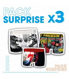 Pack Surprise de 3 Boxers Freegun garçon