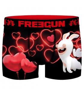 Boxer Freegun homme Lapins Crétins St Valentin