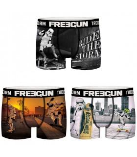 Lot de 3 Boxers Freegun homme Stormtrooper