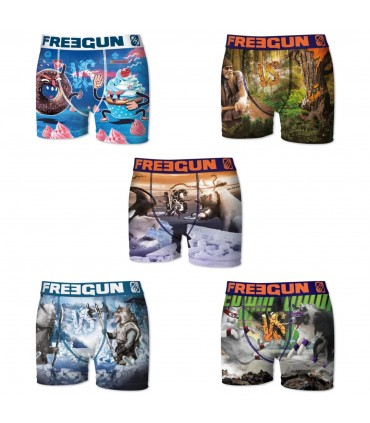 Lot de 5 Boxers Garçon Premium Vs 1 FREEGUN