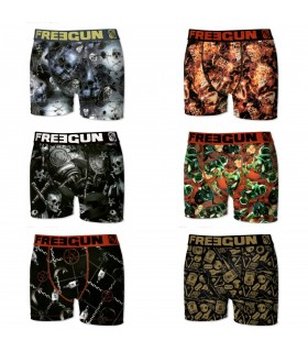 Lot de 6 Boxers Homme Premium Black Road FREEGUN