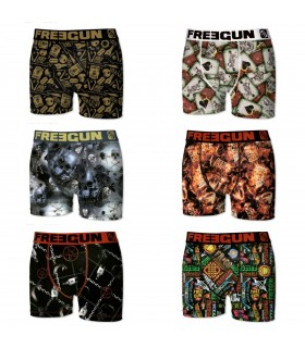 Lot de 6 Boxers Garçon Premium Black Road FREEGUN