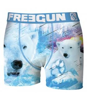 Boxer Homme Premium White Bear FREEGUN