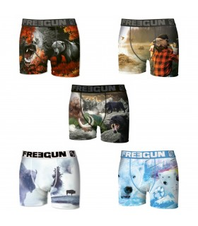 Lot de 5 Boxers Garçon Premium Winter Animals 1 FREEGUN