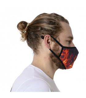 Masque Tissu Lavable en trois couches Fire
