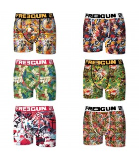 Lot De 6 Boxers Homme Premium Travel FREEGUN