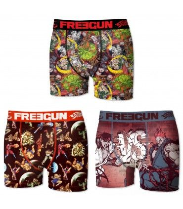 Lot De 3 Boxers Homme Street Fighter FREEGUN