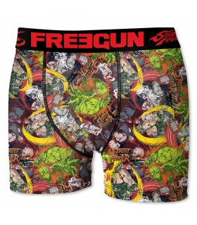 boxer homme street fighter multicolore
