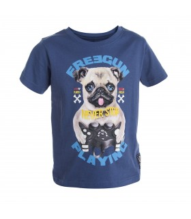 T-shirt Freegun Baby Boyz Bleu