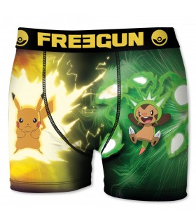 Boxer Homme Pokemon Pika FREEGUN