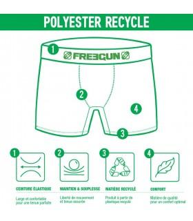 Boxer Freegun polyester recyclé homme Zebre