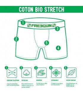 Men's Organic cotton Kiwi Black Boxer