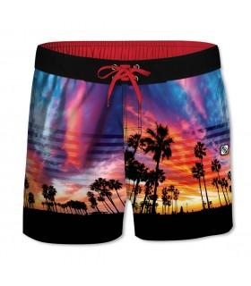 Boardshort Court Freegun garçon ceinture demi-élastiquée California