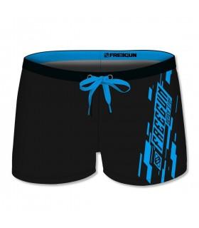 Boxer de bain homme uni avec logo rubber