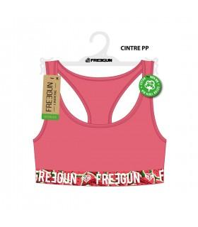 Brassière Freegun femme coton bio avec ceinture sublimation
