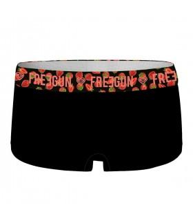 Shorty Freegun femme coton bio avec ceinture sublimation
