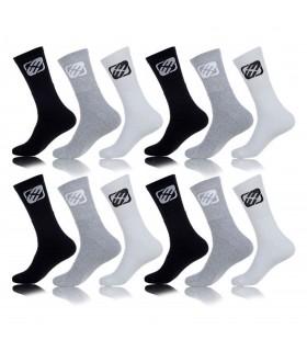 Lot de 12 Paires de chaussettes homme Multicolore
