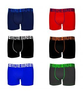 Lot de 6 Boxers Freegun garçon Uni