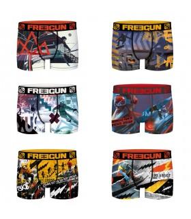 Lot de 6 Boxers Freegun homme Winter Sport Xtrem