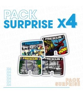 Pack Surprise de 4 Boxer Freegun microfibre Bébé garçon