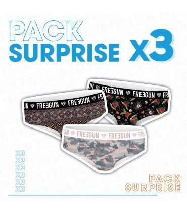 Surprise package of 3 girl's boxers