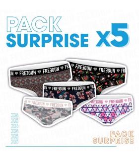 Pack Surprise de 5 Boxers Freegun fille