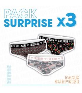 Pack Surprise de 3 Boxers Freegun Bébé Fille