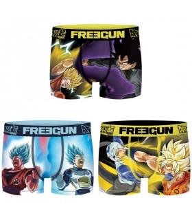 Lot de 3 Boxers Freegun garçon Dragon Ball Super