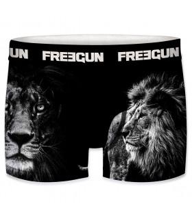 Lot de 3 Boxers Freegun homme ceinture fine Lion