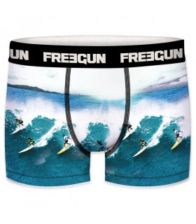 Lot de 3 Boxers Freegun homme ceinture fine Sea