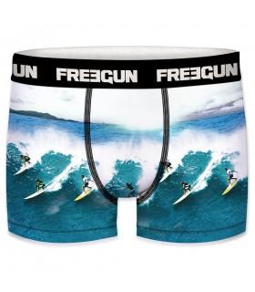 Lot de 3 Boxers Freegun garçon ceinture fine Sea