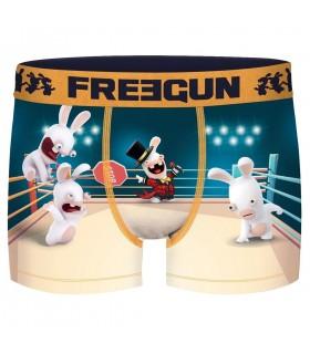 Boxer Freegun garçon Lapins Crétins Ring