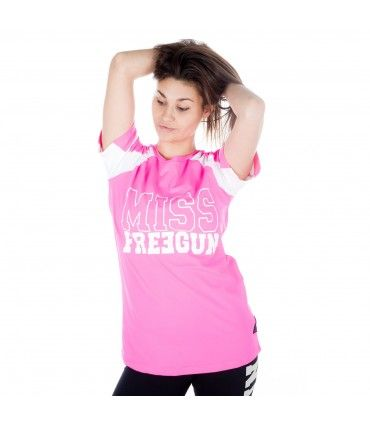 Women's bicolor short sleeves Miss Freegun Tee shirt