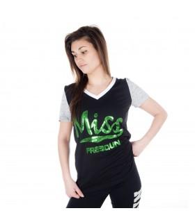 Women's short sleeves Black Tee shirt