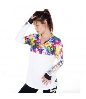 T-shirt manches longues Femme Triangle Miss Freegun