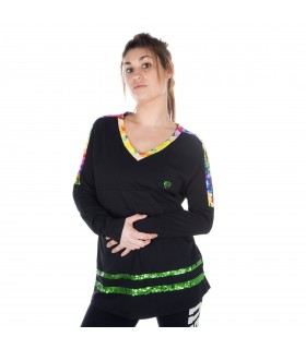 Women's long sleeves geometric Tee shirt
