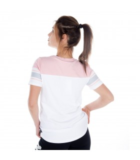 T-shirt manches courtes Femme Tricolore MISS FREEGUN