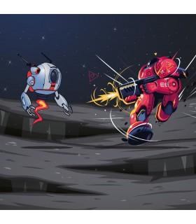 Boxer garçon Geek Comics Robot