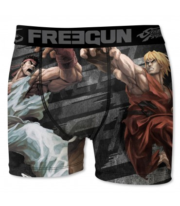 Boxer homme street fighter cla freegun multicolore